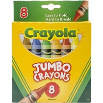 Crayola 8-pack - Crayones Jumbo (tan Grande) Tamaño (caja In
