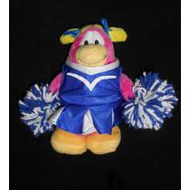 Disney! Peluche Club Penguin, Porrista, Sin Moneda Mide 18cm