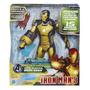 Marveliron Man3 Sonic Blasting 12-inch Figura Negro Y Dorado
