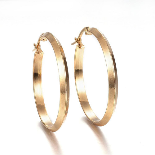 código promocional 849b9 265e3 Aretes, Arracadas Acero Inoxidable Color Oro 34.5x33x3 Mm en ...