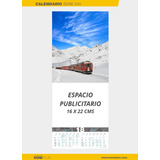 Calendario 2018 De Pared Con Varilla Serie 24v 24x45