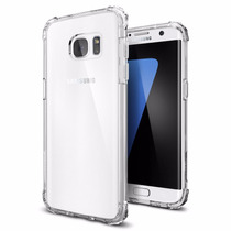 Funda Spigen Crystal Shell Sam Galaxy S7 Edge - Transparente
