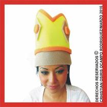Sombrero Espuma Corona Boda Xv Dj Fiesta Lente Peluca Gorro