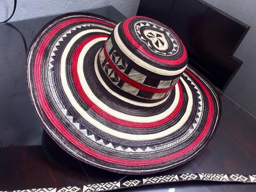 Sombrero Vueltiao Colombiano 19 Vuelta Rojo Y Cinto Original 0c582c8420a