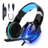 Auriculares Gamer Kotion Each G9000 C/ Micrófono Y Luces Led