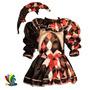 Disfraz Arlequin Halloween Niña