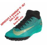 Tenis Fut Nike Cr7 Superflyx 6 Academy Tf ( 7.5 Mex) + Caja 8d38dd407ec36