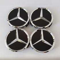 Centro De Rin Center Cap Emblema Mercedes Benz Negro 75mm