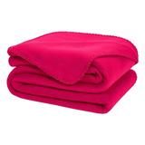 Cobertor Melocotton Merrow Matrimonial Fucsia Liso