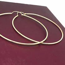 7e38a6ea0a2c Aretes Coquetas Arracadas Oro 10k Grandes 6.8 Cm en venta en ...
