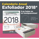 Calendario Exfoliador 2018 Almanaque Block
