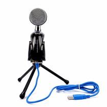 Microfono Condensador Usb Semiprofesional Con Mini Tripie