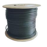 Carrete De Cable Coaxial Negro Con Guía 305 Mts Facturado