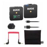 Micrófono Con Accesorios Rode Wireless Go Condensador Omnidireccional Negro