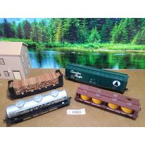 H8o Trenes Escala Ho Set 4 Vagones De Carga X Pza O X Set