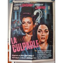Poster La Culpable Manolita Saval Isabela Corona Jose Diaz