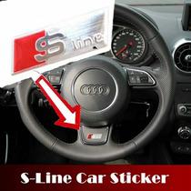 Emblema Audi Sline Volante Rines Aluminio Cepillado