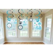 Dulce Safari Boy Baby Shower Decoración Hanging Remolino Dan