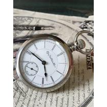 Reloj De Bolsillo Elgin Antiguo Jumbo Cuerda De Coleccion