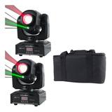 Set 2 Cabezas Moviles Led Beam 1x45w Rgbw Laser Verde Rojo