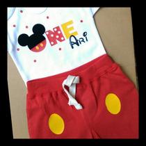 Pañalero Personalizado Mickey Mouse Fiesta Cumpleaño Disfraz