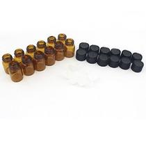 Shimie Vidrio Ámbar Botella De Aceite Esencial 5/8 Dram (2 M