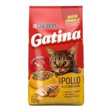 Alimento Gatina Para Gato Sabor Pollo En Bolsa De 15kg