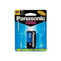 Pila Cuadrada 9 Volts Panasonic Azul Blister Con 1 Pila