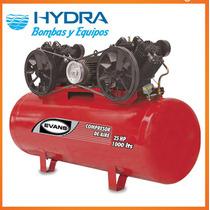 Compresor De Aire Lubricado 2 Etapas, 25 Hp