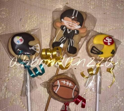 Galletas Decoradas Futbol Americano Cascos Balon En Venta En