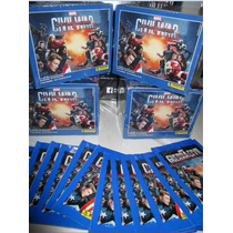 Estampas Capitan America Civil War: Caja + Album + 4 Sobres