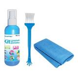 Kit Limpiador Para Pantallas Paño Liquido Y Cepillo Mcl-6004