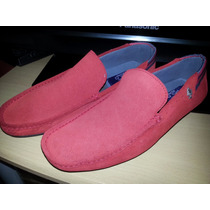 Zapatos Polo Collection Rojos De Gamuza
