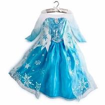 Vestido Disfraz Elsa Y Anna Frozen Clasico Y Fever No Disney