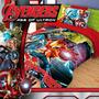Cobertor Matrimonial Avengers Reverso Borrega