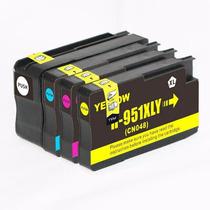 Kit 4 Cartuchos Tinta Compatible 950xl 951xl 8100 Y 8600