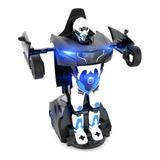 Tmr001 Carro C/remoto Transformer Robot Negro