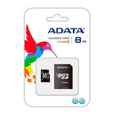 Memoria Micro Sdhc Adata, 8gb, Clase 4, Con Adaptador