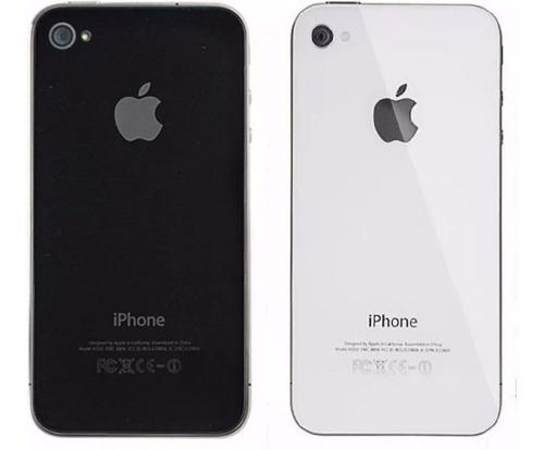 954bc65b Tapa Trasera De Cristal Original iPhone 4 4s Blanco Negro en venta ...