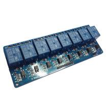 Modulo 8 Relevadores Con Optocoplador Arduino Pic Avr Rele