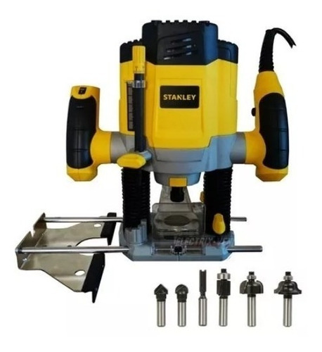 Router 1200w Stanley 6 Brocas 6 Velocidades 27000 Rpm