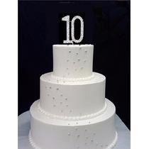 Numero 10 Diamante Para Decoracion De Pastel