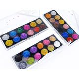 Paletas De Sombras Para Ojos Maquillaje Glitter Set 3 Pzas