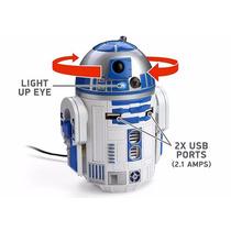 Star Wars - Cargador De Coche Usb R2-d2 Con Sonido - Oficial
