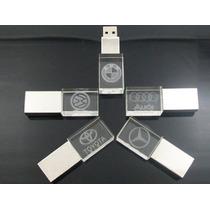 Usb Cristal Personalizadas Con Grabado Laser Publicitaria