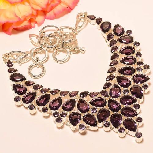 1e12f0dc6630 Collar De Amatista Africana En Plata Esterlina 925