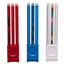 Set Pluma Boligrafo ,lapicero Y Colores Con Base Mayoreo