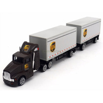 1:87 Trailer Dolly Doble Remolque Ups No Hot Wheels Matchbox