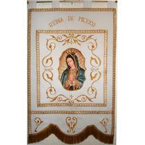 Estandarte Fino Virgen De Guadalupe Tipo Europeo