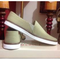 Mocasín Zapato Casual Perry Ellis Verde Militar Num Extra G
